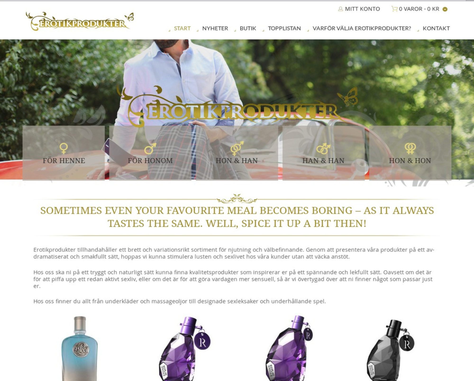 Erotikprodukter bygger nu ny hemsida!
